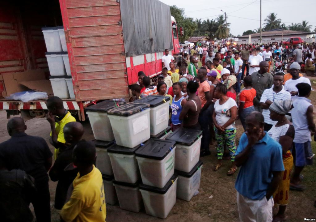 Liberians Waiting To Vote