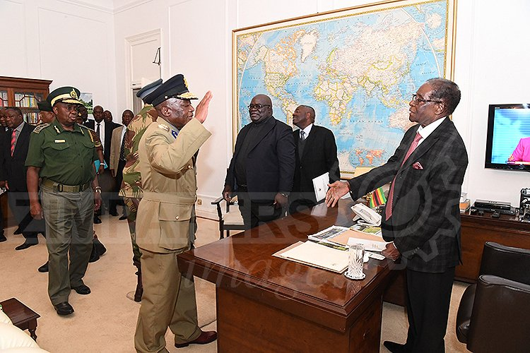 Mugabe meeting with Generals of the Military
