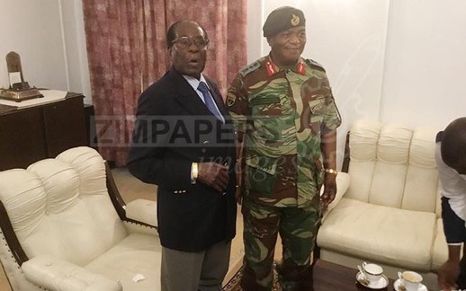 Pres Mugabe Meets Army Chief Chiwenga