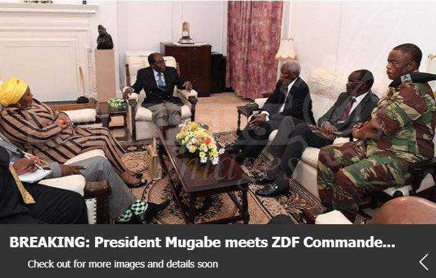 President Mugabe Meets Army Chief and Mediators at State House