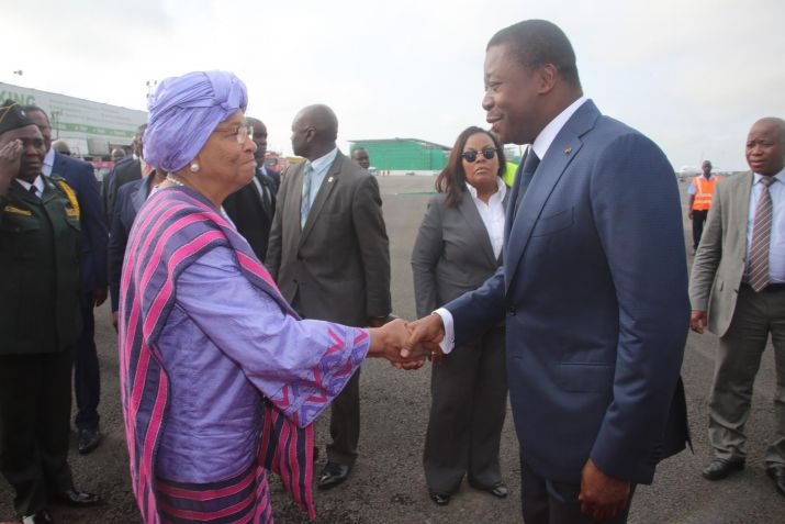 President Sirleaf receives ECOWAS Chairperson Togolese President Faure Gnassingbe