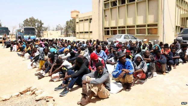 "Sub-Saharan African ""Slave"" Migrants Being Repatriated From Libya"