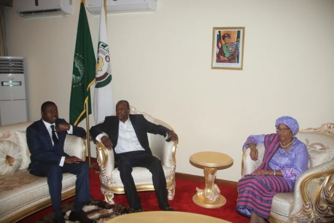 Togolese and Guinean Leaders and President Ellen Johnson Sirleaf in Monrovia1