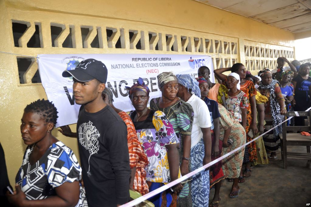 Voting queue in Liberia