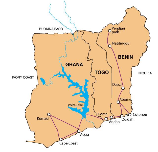 Ghana -Togo Map