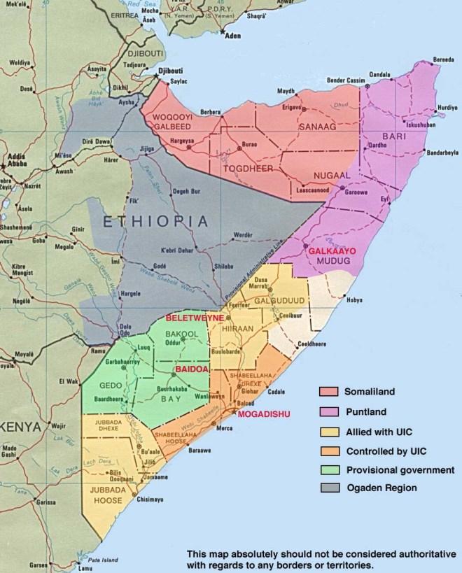 Map - Somalia