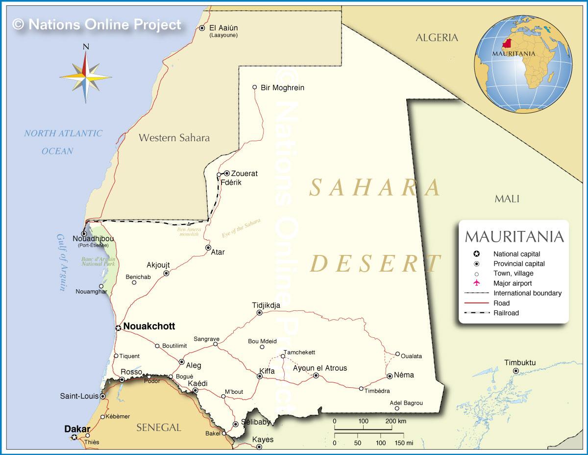 Mauritania-map