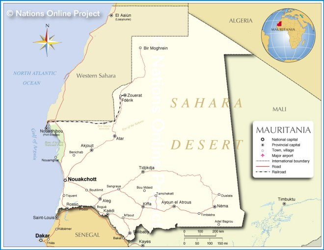Mauritania-map