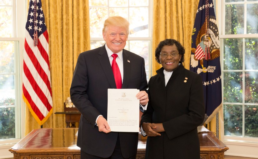 New Liberian Envoy Presents Letter of Credence To US President