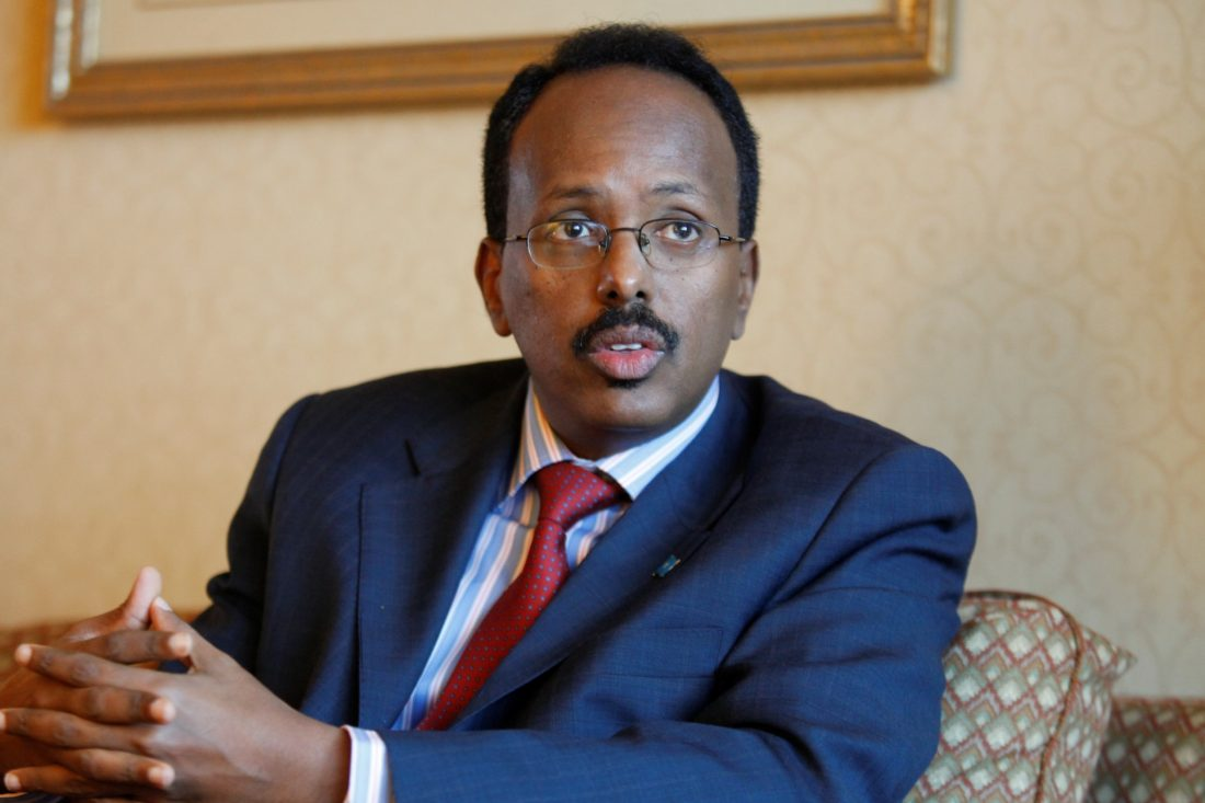 President Mohamed-Abdullahi-Mohamed of Somalia
