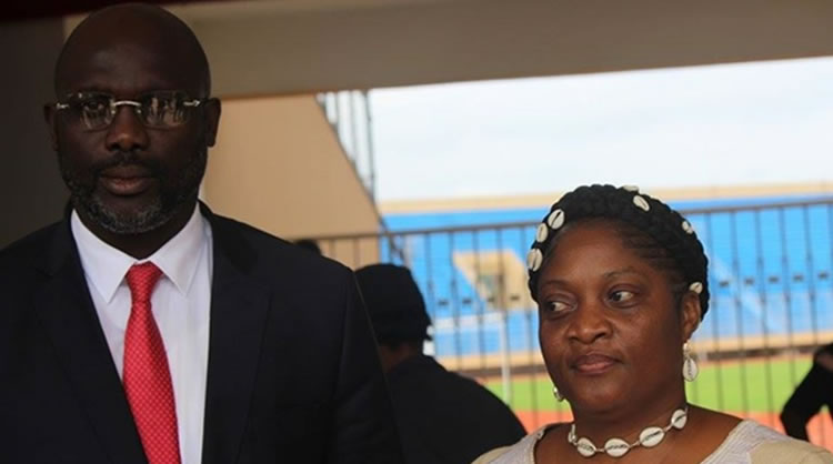 President George Weah andVice President Jewel Taylor