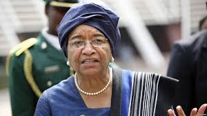 Outgoing President Ellen Johnson Sirleaf