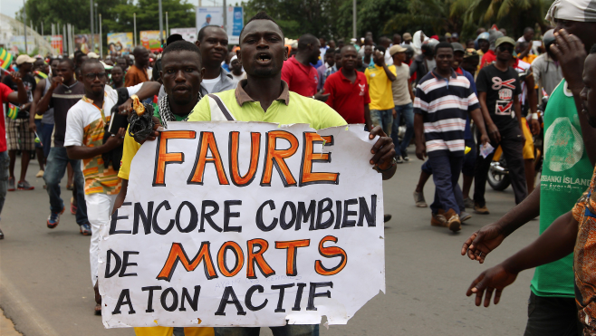 Togolese Anti Government Protesters