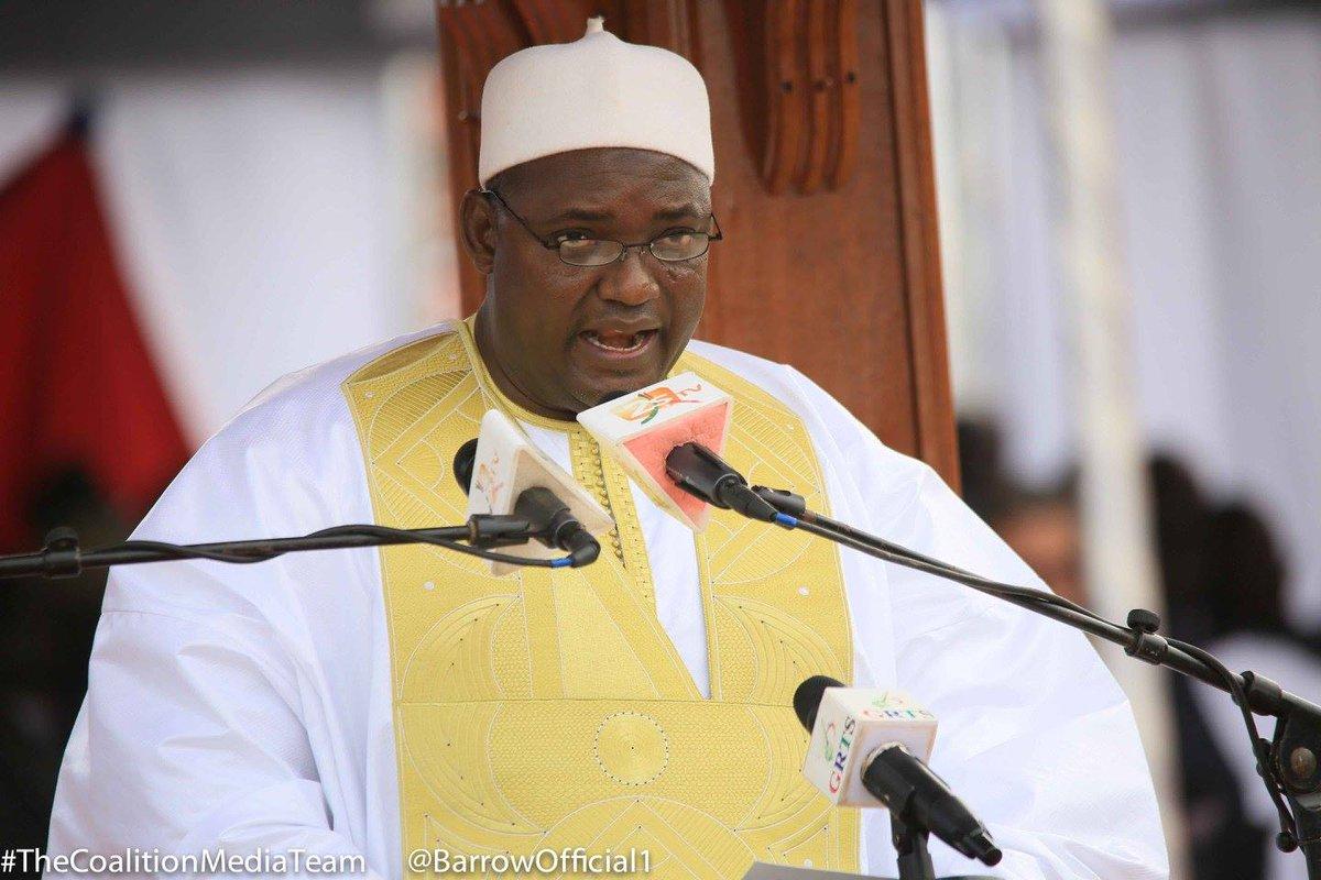Gambia President Adama Barrow