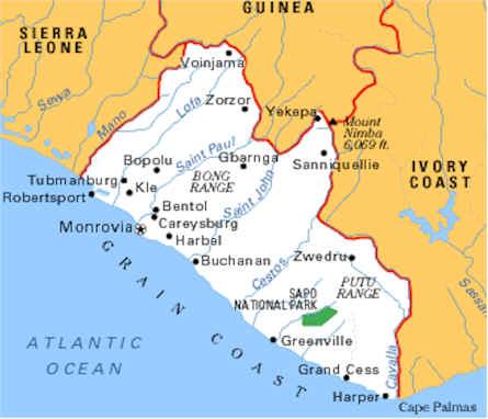 Liberia-Guinea Map