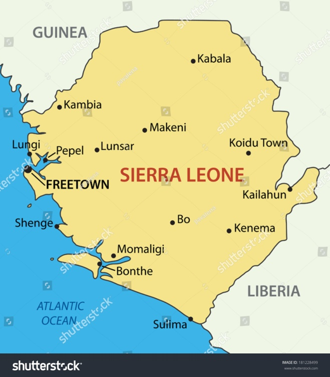 Map of the Republic of Sierra Leone