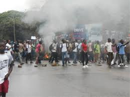 Protesting University Students In Liberia