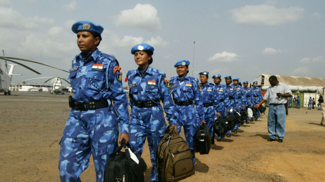 UN Peacekeeping Policewomen from India Arrive In Liberia