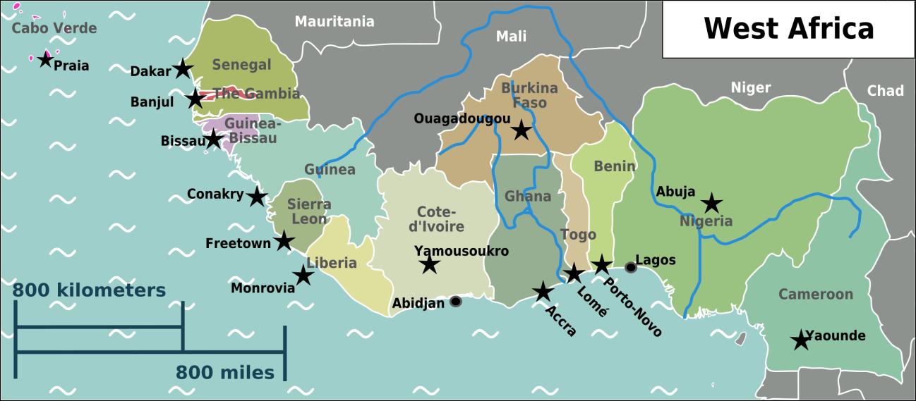 West Africa Regional Map