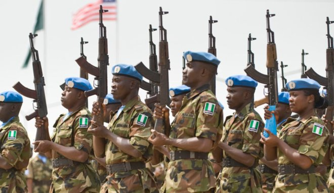 UNMIL Peacekeepers From Nigeria