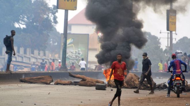 Violent Protests in Guinea - VOA