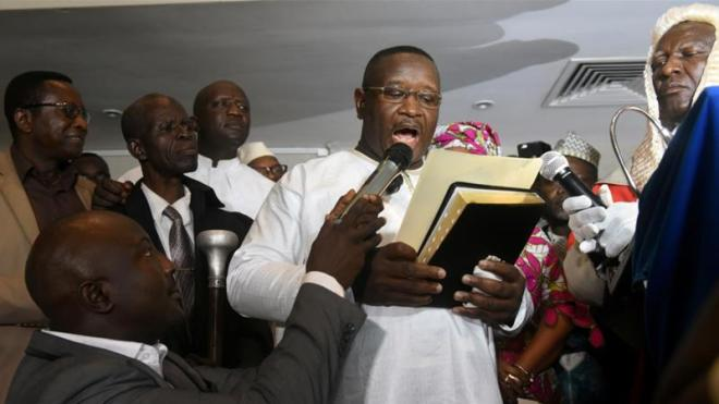 Sierra Leone President Julius Maada Bio Taking Oath of Office - Reuters