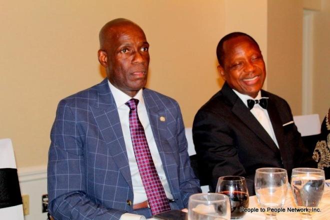 Information Minister Eugene Nagbe and ALJA President Moses Sandy