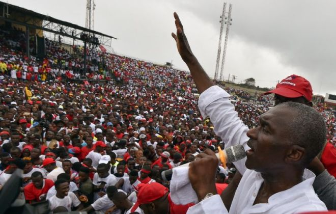 ANC Leader Alexander B. Cummings Addressing Liberians During Campaign - File Photo