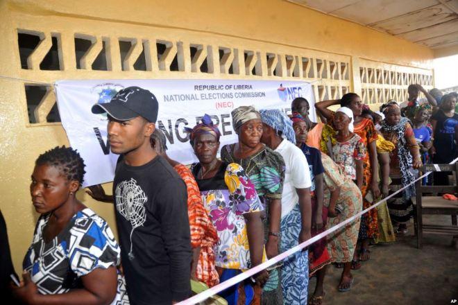 Voting queue in Liberia