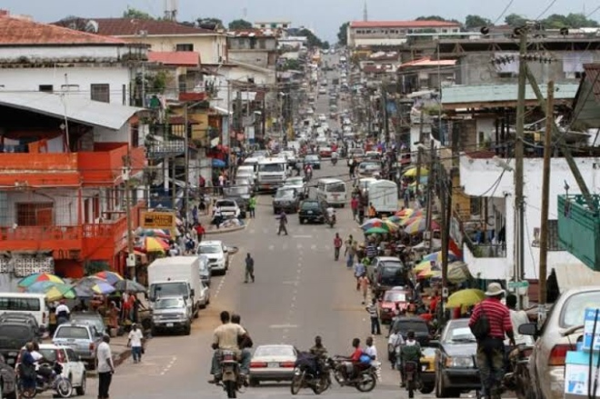 Business District In Monrovia