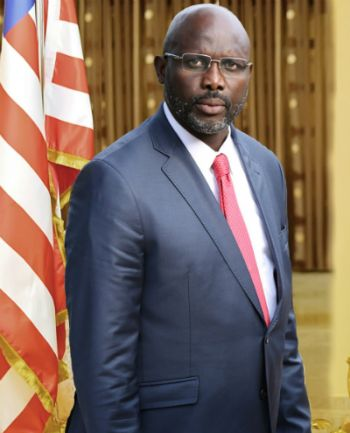 Liberian President George M. Weah