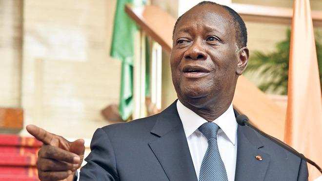 Pres Alassane Ouatarra of Cote d' Ivoire