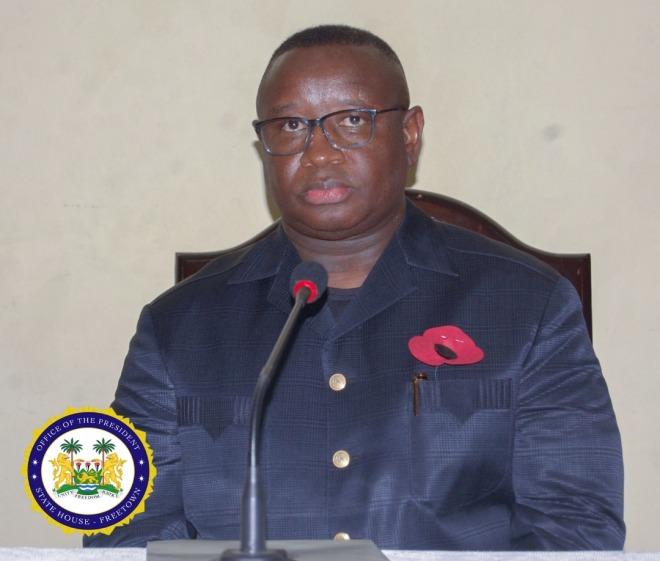 President Julius Maada Bio of Sierra Leone