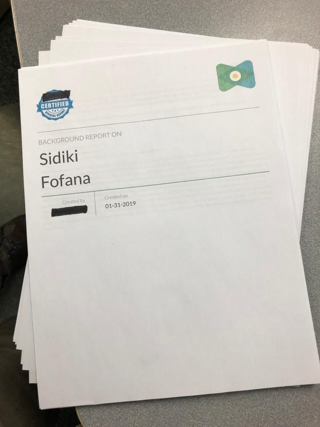 Sidiki Fofana Dossier