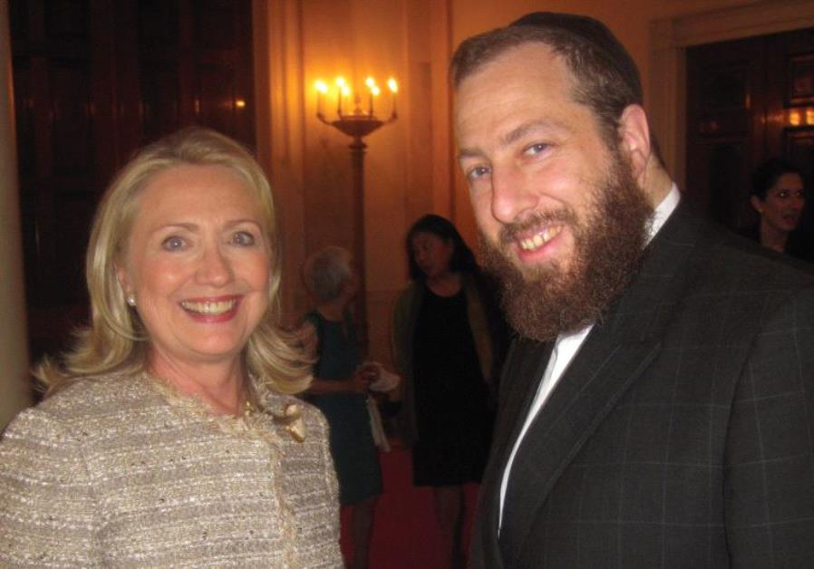 Friedlander CEO Ezra Friedlander and Former US Presidential Candidate Hillary Clinton - File Photo
