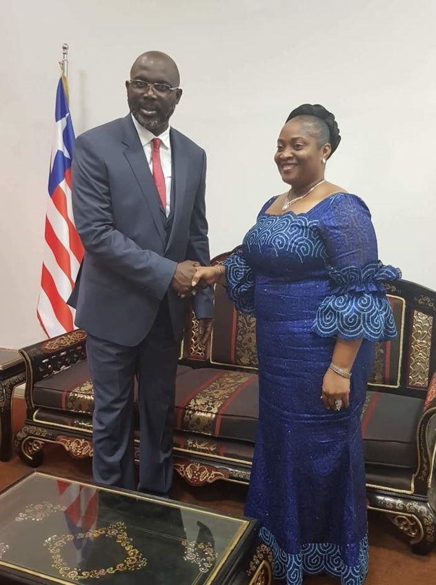 President George Weah and Vice President Jewel Howard Taylor - File Photo