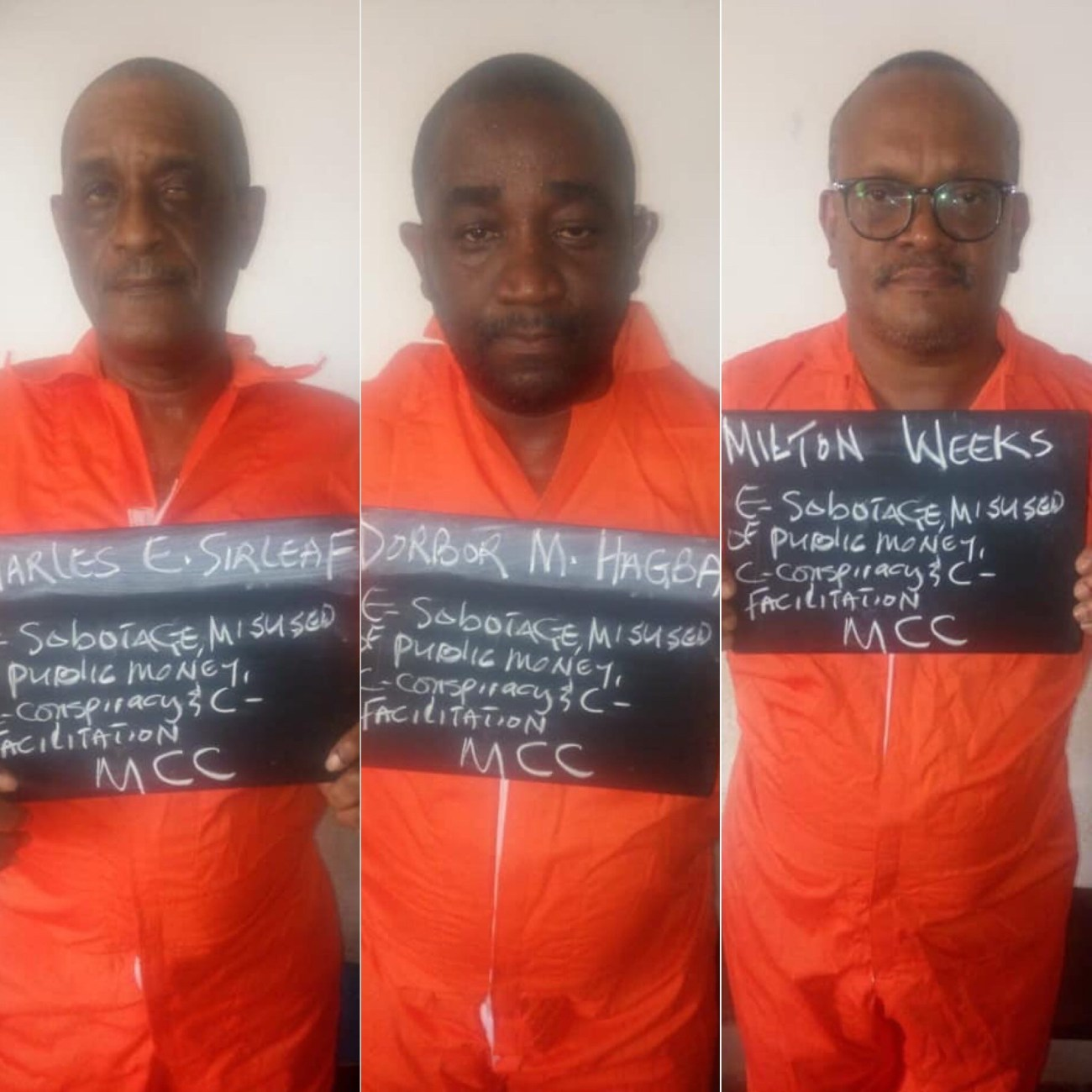 Accused and Indicted Liberia Central Bank Officials