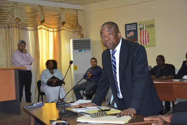 Liberia Justice Minister Counselor Frank Musa Dean