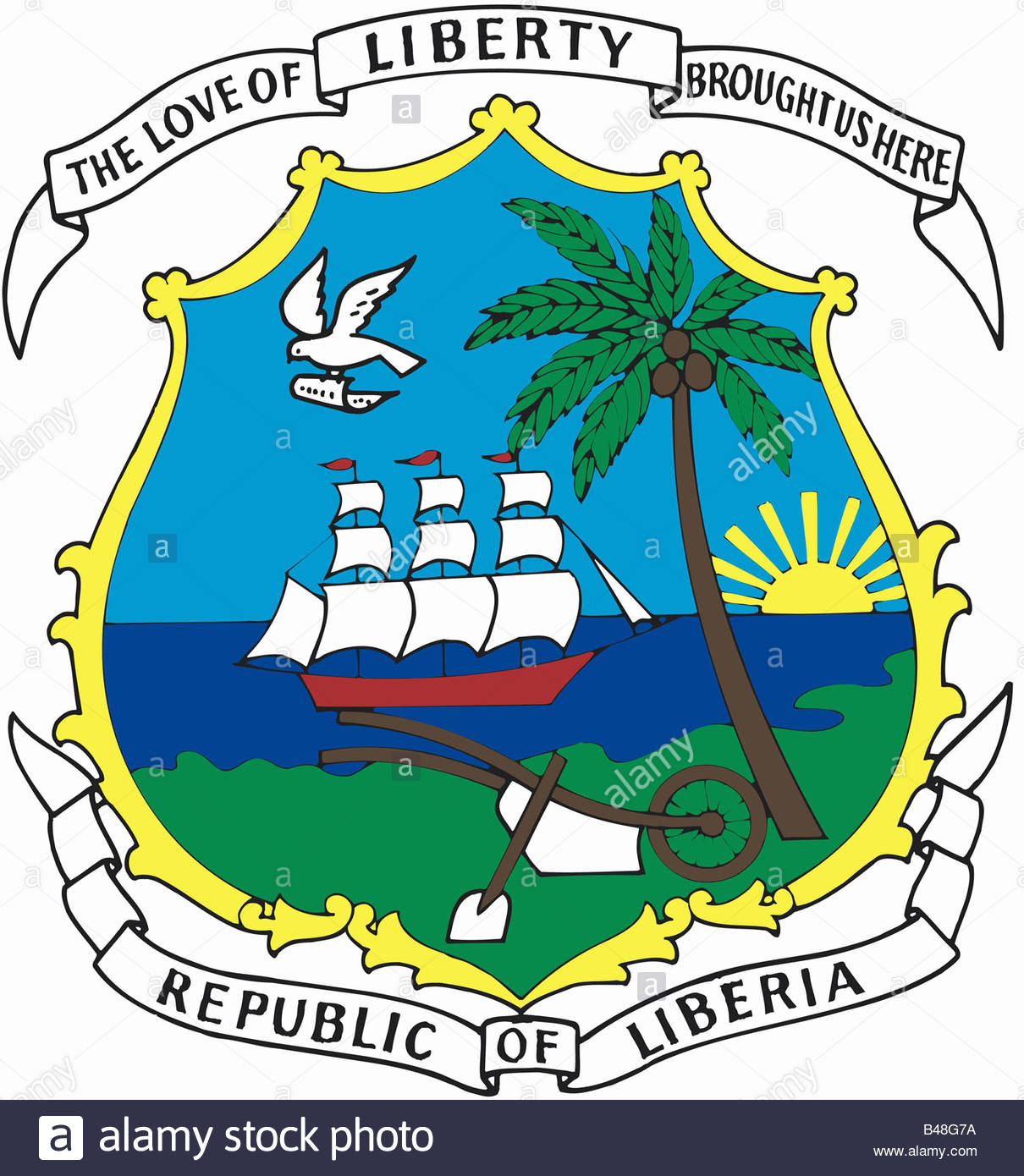 National Coat of Arms of Liberia
