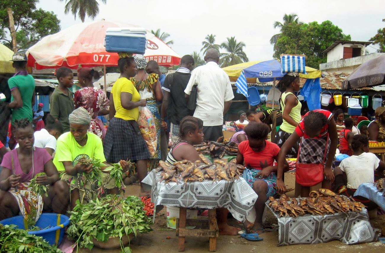 Market in Liberia