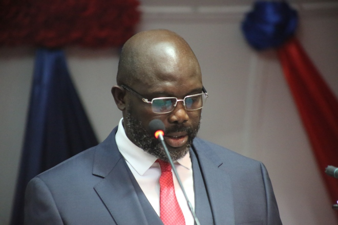 President Weah Addresses the Lawmakers