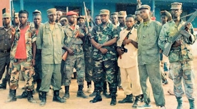 Ex Liberian Warlord Alhaji Kromah and some fighters of the disbanded ULIMO-K Militia - File Photo