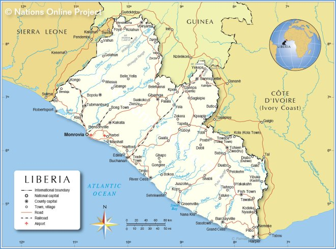 Political Map of Liberia